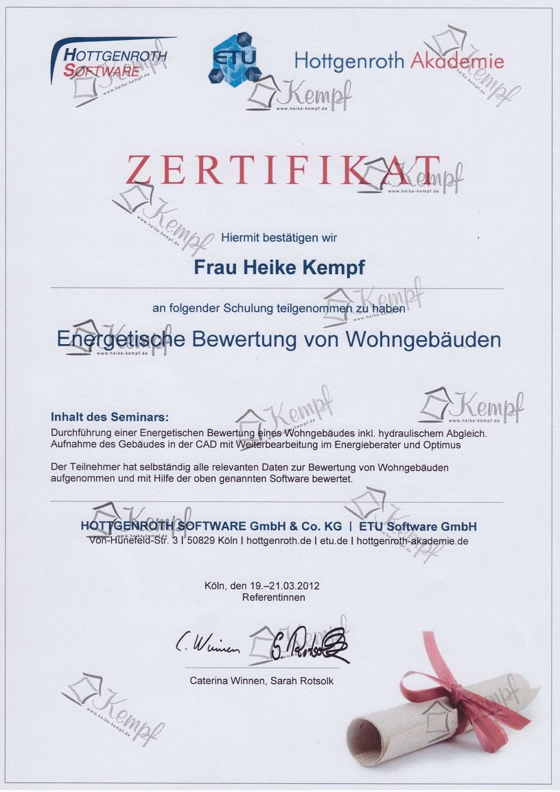 Hotgenroth Zertifikat Energetische Bewertung